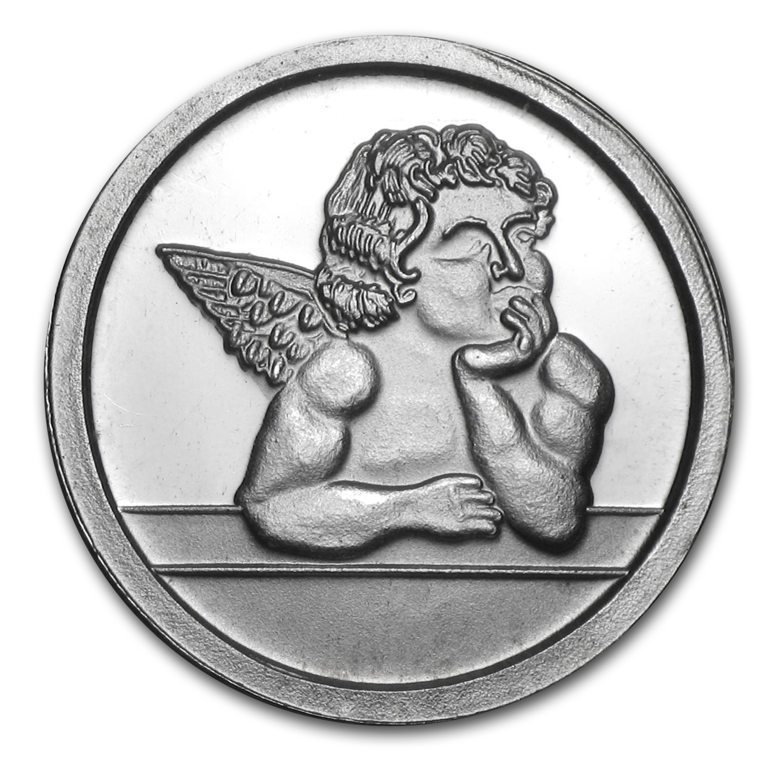 1/20 oz Silver Rounds - Cherub Angel
